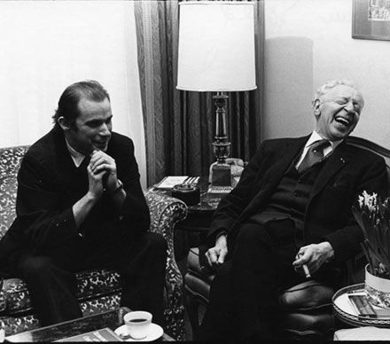 Glenn Gould and Arthur Rubenstein